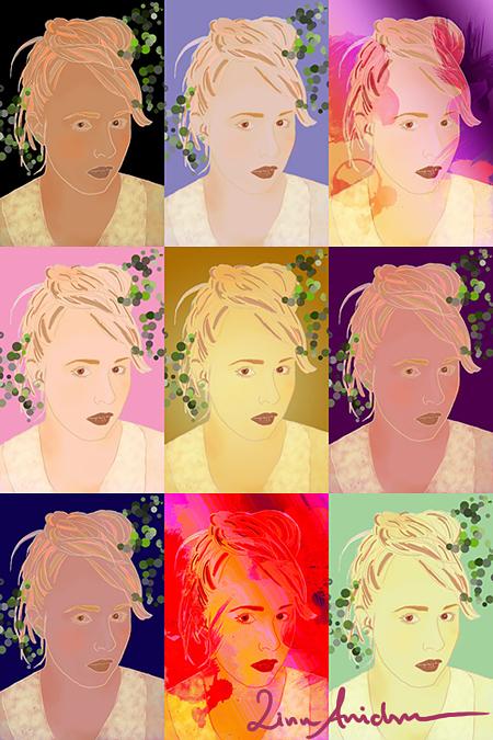 porträttmånga